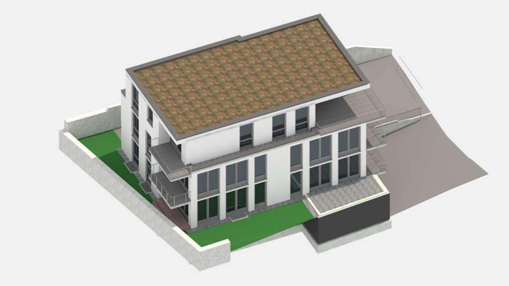 Visualisierung: Neubau Franz-Kofler-Straße in Oberderdingen