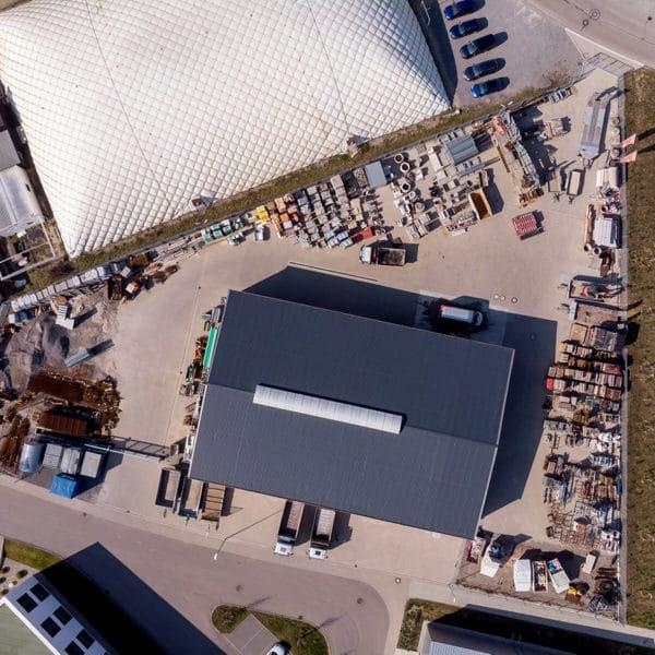 Klingel GmbH Halle von oben