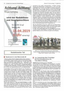 """Artikel aus dem """"Blättle"""" Oberderdingen"""